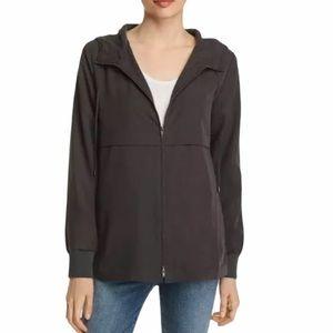 Eileen Fisher Graphite Sandwashed Hooded Jacket